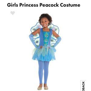 BNWT Girls Peacock Princess Halloween Costume